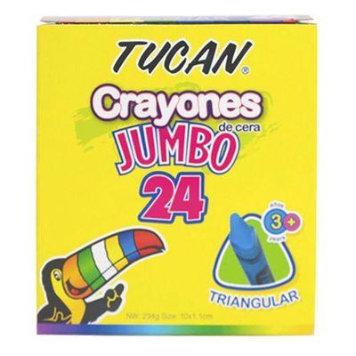 Crayon-De-Cera-Jumbo-Triangular-24-Colores---Tucan