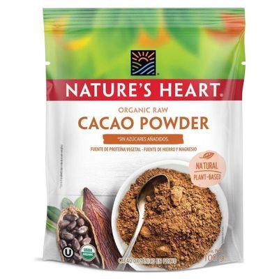 Cacao-Powder-Organic-Raw-Bolsa-100G---Nature-s-Heart