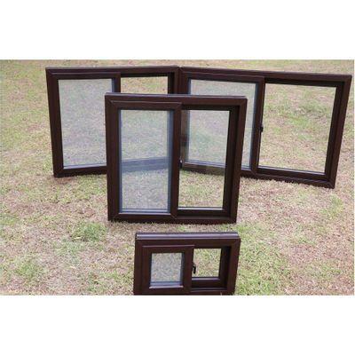 Ventana-PVC-S80-Corrediza-Con-Cedazo-Nogal-Oscuro---Vitreo-Varios-Tamaños