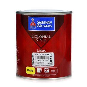 Colonial-Style-Latex-Mate-Blanco-1-4-Gal---Sherwin-Williams