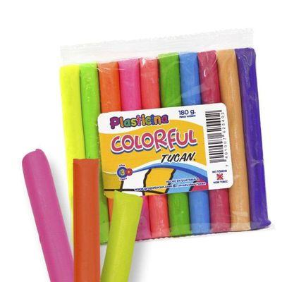 Plasticina-Colorful-180-G-10-Colores---Tucan