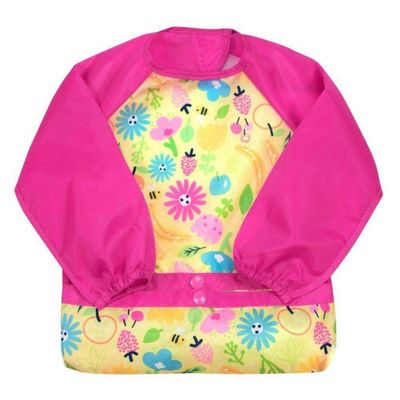 Babero-Snap---Go-Ls-Pink-Bee-Floral-12----Green-Sprouts