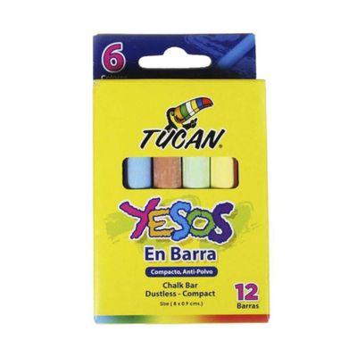 Yeso-En-Barra-12-Unidades-Colores---Tucan