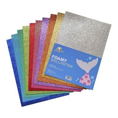 Foamy-Brillantina-10-Colores-Surtidos---Mis-Pasitos