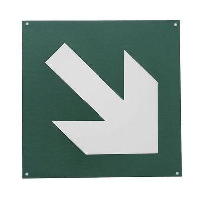 Rotulo-Flecha-Diagonal-Verde