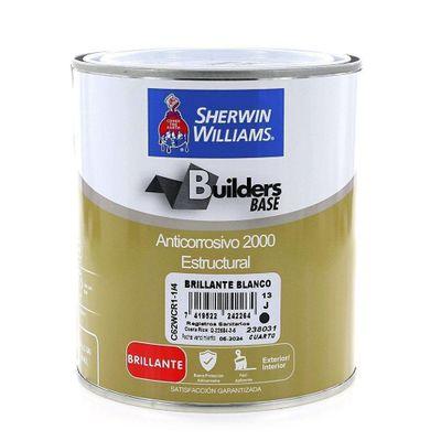 Builders-Base-Anticorrosivo-2000-Estructural-Brillante-Blanco-1-4-Gal---Sherwin-Williams