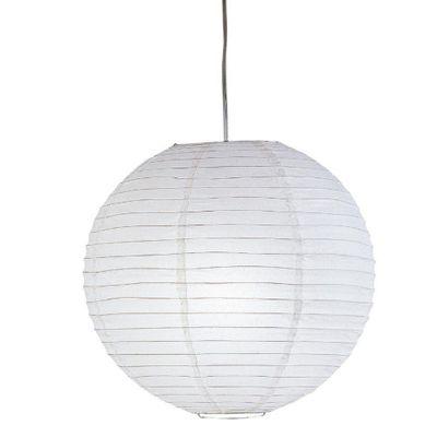 Lampara-Colgante-De-Papel-Blanca-40Cm-1Bombillox60Wmax---Zlumini