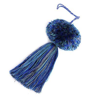 Accesorio-De-Pompon-Multicolor-De-Hilo---Calu-Moda-Artesanal