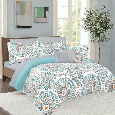 Set-Edredon-Aisha-Misty-Coral-9-Pzs---Dream-Home-Varios-Tamaños