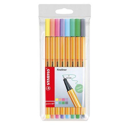 Stabilo-Marcador-Point-88-Pastel-8-Colores