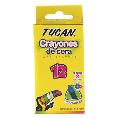 Crayon-De-Cera-Estandar-Triangular-12-Colores---Tucan