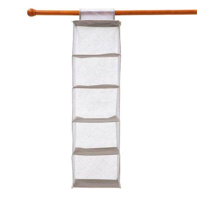 Organizador-5-Divisiones-28X28X95-Cm-Gris-Blanco---Elements