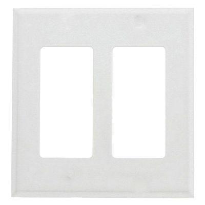 Placa-Decorativa-Plus-2-Gang-Blanca---Leviton