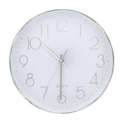 Reloj-Pared-30X30X4.2-Cm-Circular---Flor-De-Liz-Varios-Colores