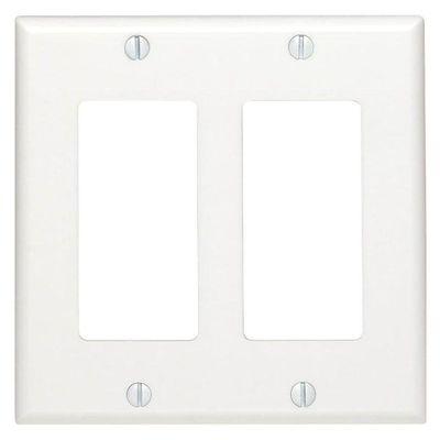 Placa-Decorativa-2-Gang-Blanca---Leviton