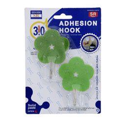 Set-De-2-Colgadores-Con-Adhesivo-Diseño-De-Flores---Life-Art