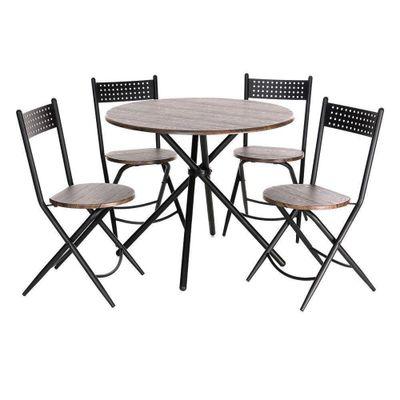 Desayunador-Mesa-90X90X74.4-Cm-4-Sillas