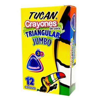 Crayon-De-Cera-Jumbo-Triangular-12-Color---Tucan