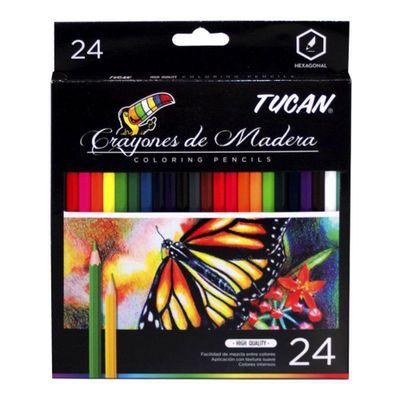 Crayon-De-Madera-Alta-Calidad-24-Colores---Tucan