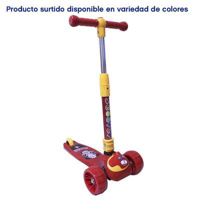 Monopatin-Plegable-Color-Rojo-Con-Colores-Y-Sonido---Lider-Bike