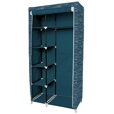 Closet-W90Xd45Xh178-Cm-Azul-Lineas---Elements