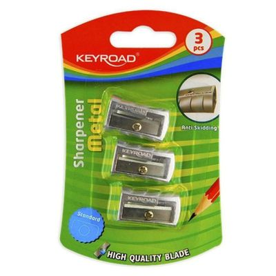 Keyroad-Sacapuntas-De-Metal-1-Agujero-Blister-3-Pcs