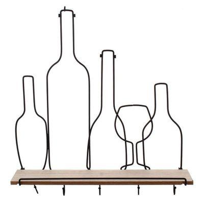 Repisa-Con-Colgadores-En-Forma-De-5-Botellas---Concepts