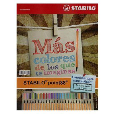 Stabilo-Block-Cartulina-Iris-24-Hojas-Carta
