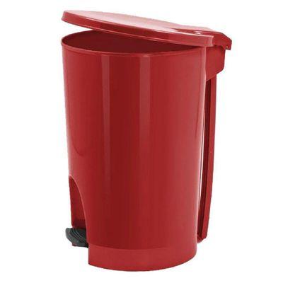 Basurero-De-Pedal-Redondo-22Lt-Rojo---Guateplast
