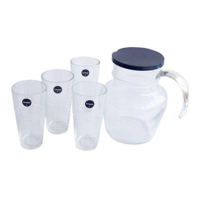 Set-Pichel-Y-4-Vasos-Con-Relieve---Luminarc