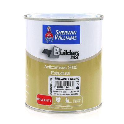 Builders-Base-Anticorrosivo-2000-Estructural-Brillante-Negro-1-4-Gal---Sherwin-Williams
