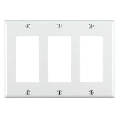 Placa-Decorativa-3-Gang-Blanca---Leviton