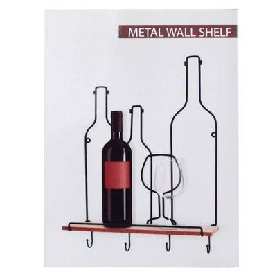 Repisa-Con-Colgadores-En-Forma-De-4-Botellas---Concepts