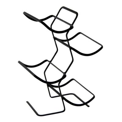 Portavino-Negro-20.5X16X32-Cm---Concepts