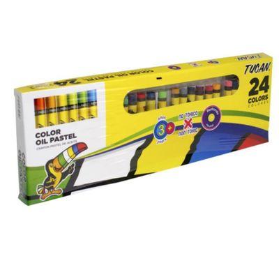 Crayon-Pastel-Redondo-24-Colores---Tucan