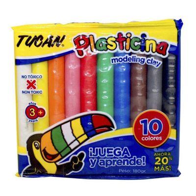 Plasticina-Barra-10-Colores-180-Grs---Tucan
