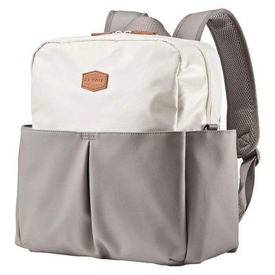 Pañalera-Backpack-Popperton-Crema