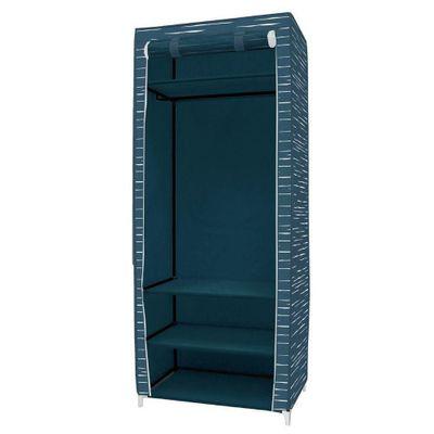 Closet-W75Xd45Xh180-Cm-Azul-Lineas---Elements
