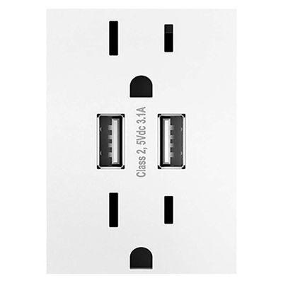 Tomacorriente-Doble---2-USB-Blanco---Legrand