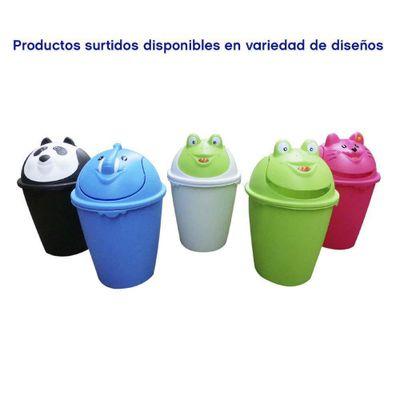 Basurero-Plastico--Diseño-Animales