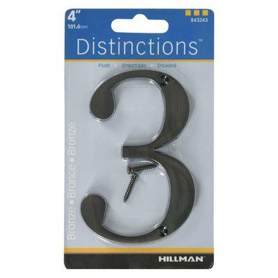 Numero-3-En-Bronce-De-Tamaño-4---Hillman