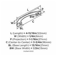 Halador-Amerock-Arco-96-Mm-Bronce