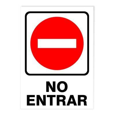 Rotulo-No-Entrar-Grande-12.7-X-17.8-Cm---Foto-Metal