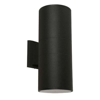 Lampara-De-Exterior-Para-Pared-Negra-2-Luces-E27-100W---General-Lighting