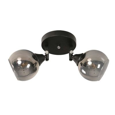 Lampara-Pared-Negro-2-Luces-E27-40W---General-Lighting