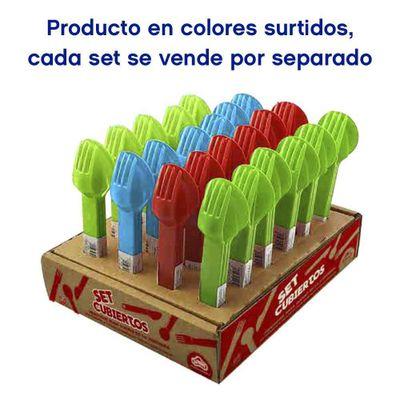 Set-De-Cubiertos-Plasticos-Colores-Surtidos---Guateplast