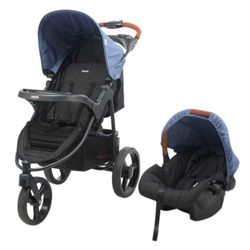 Travel-System-Tizzy-Azul-Melange---Infanti