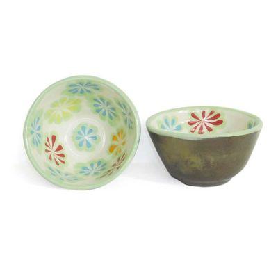 Tazon-Para-Postre-Ceramico-Diseño-Flores-Verdes---Casa-De-Los-Gigantes