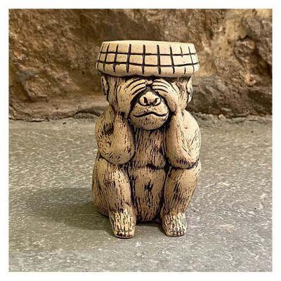 Figura-De-Piedra-Ceramicas-Diseño-Mono-Sabio-Ver---Ceramicas-Mundo-Maya