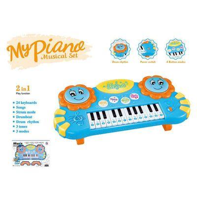 Piano-Con-Bateria-Azul